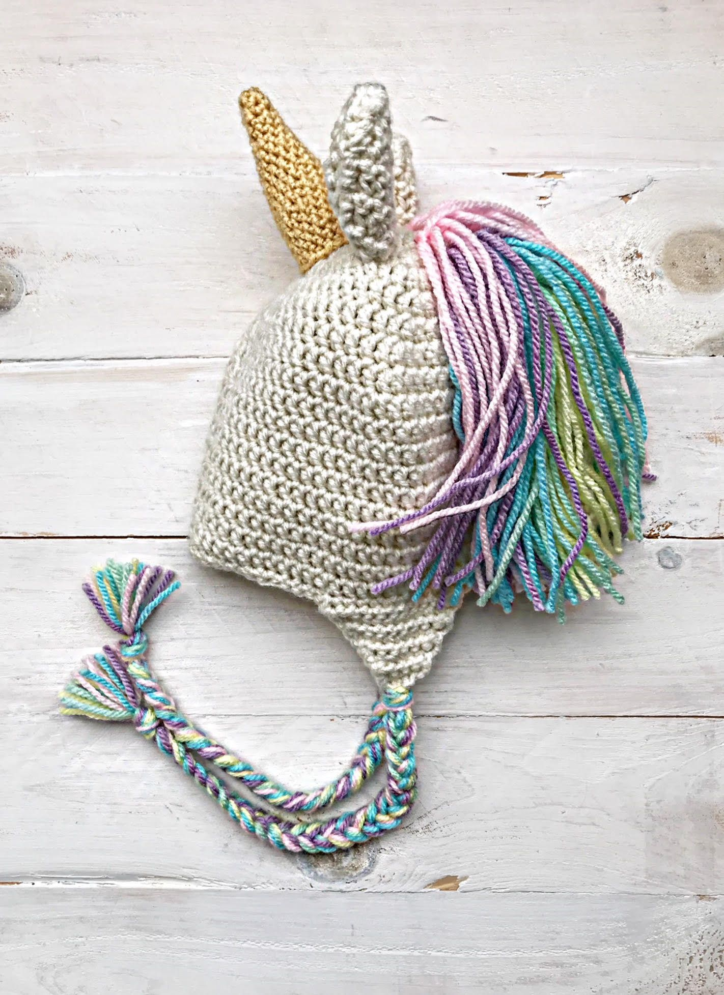 9f8e2f3c361 Unicorn Hat with Ear-flaps