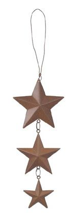 Vertical Hanging Rust Star Chain