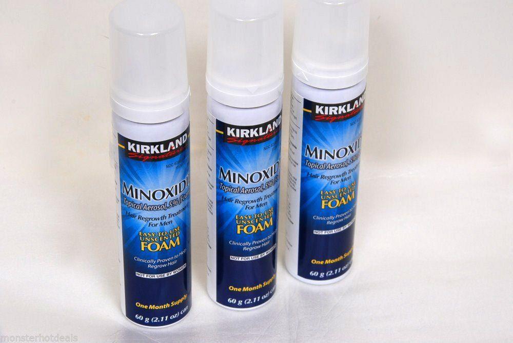 Kirkland minoxidil topical aerosol 5 unscented foam hair