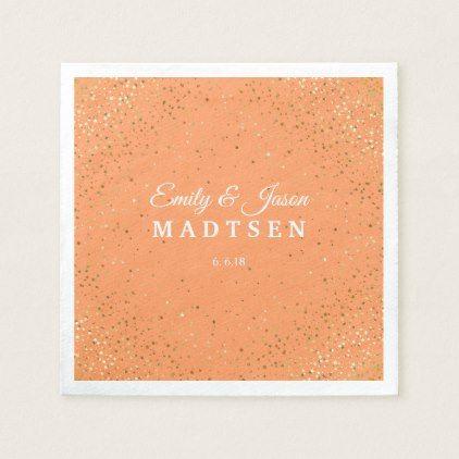 Petite Golden Stars Wedding Paper Napkins | Zazzle.com #papernapkins