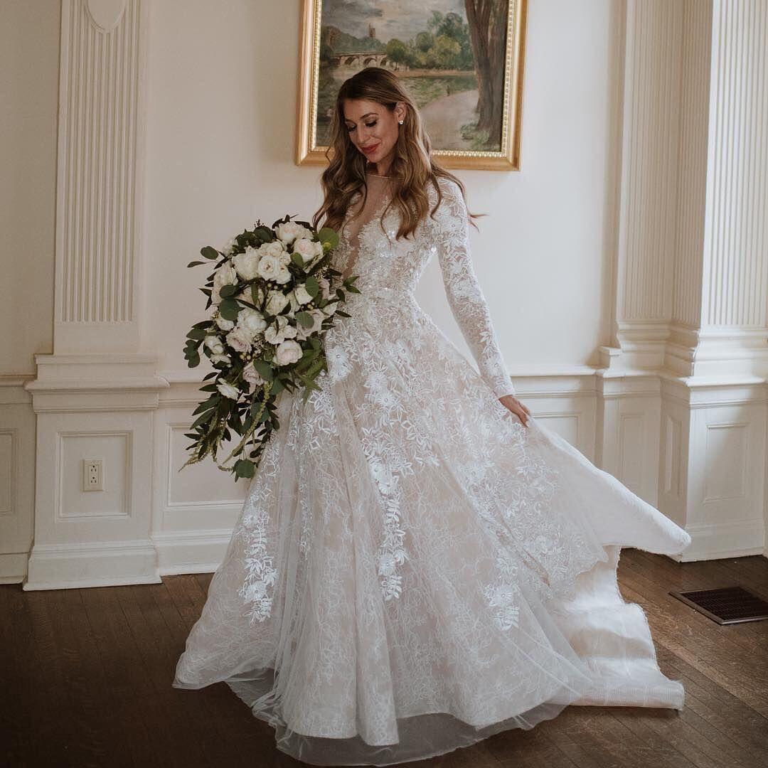 Long Sleeve Weddingdress By Tony Ward Photo Laurahuertas Happierreeverafter Whitei Klienfeld Wedding Dresses Wedding Dresses Kleinfeld Kleinfeld Bridal [ 1080 x 1080 Pixel ]