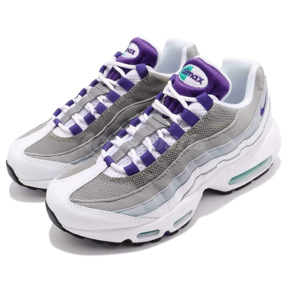 Privilegio Pulido Reflexión  Nike Wmns Air Max 95 OG Retro White Grape Women Shoes Sneakers 307960-109 -  Nike Airs (This is a link to Amazon …   Womens shoes sneakers, Nike air max  95, Nike air