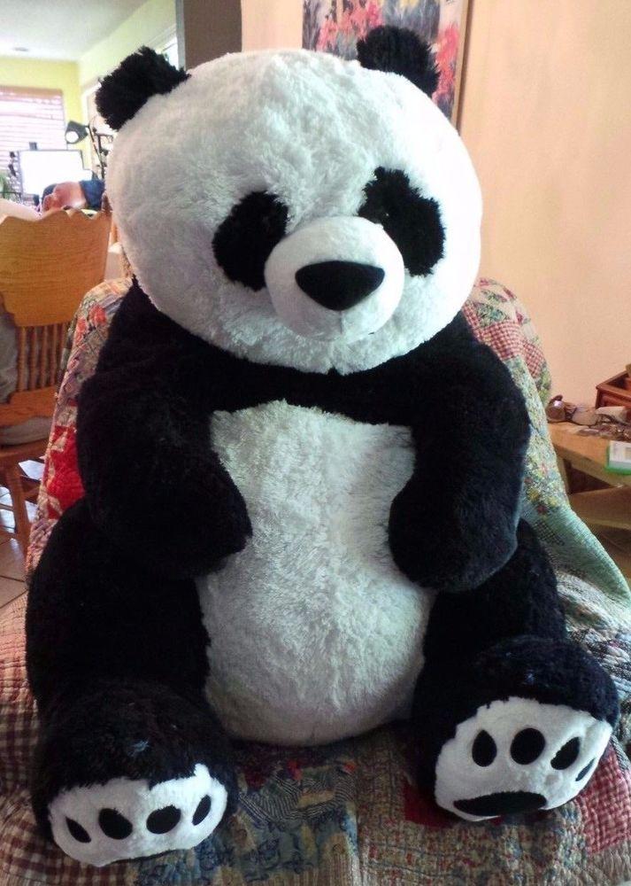 Hugfun Giant Plush Stuffed Panda Bear Realistic 42 Inches Lifesize