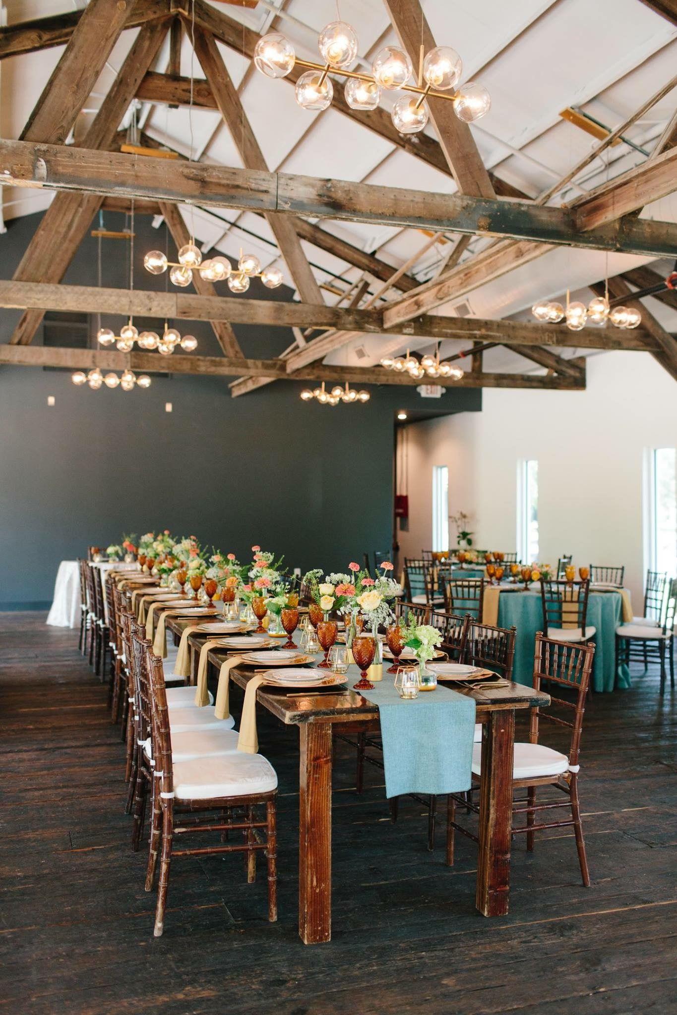 indoor wedding reception room at Springdale station