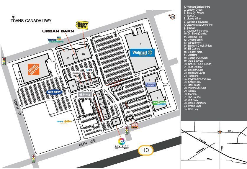 Langley SmartCentre shopping plan Langley british