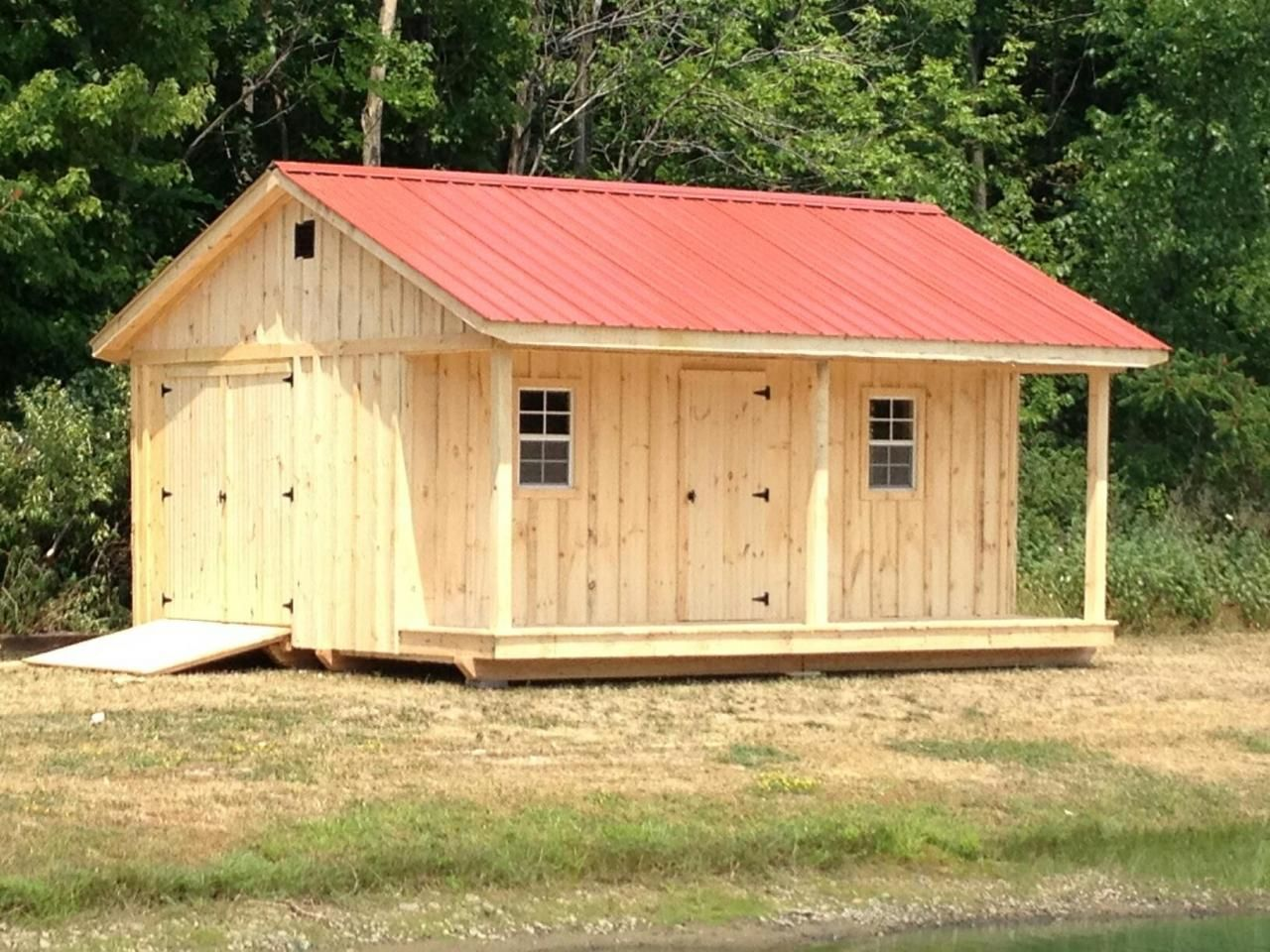 10 39 x 18 39 shed with 4 39 porch metal roof windows and for Barn with porch
