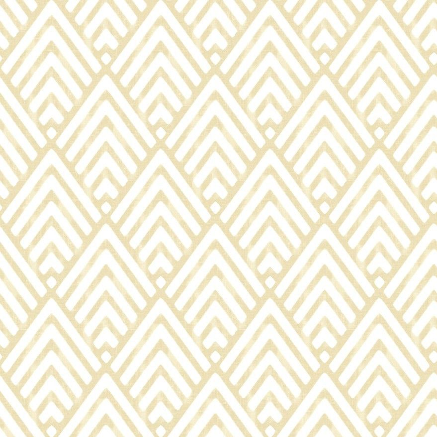 Vertex White and Gold Wallpaper