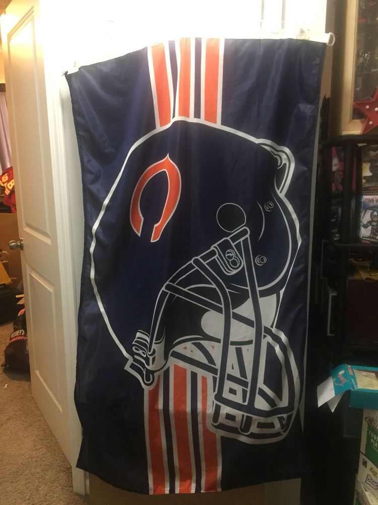 602a701be39 CHICAGO BEARS FLAG Made in Holland NFL HELMET Flag WINCRAFT Sports   WinCraft  ChicagoBears