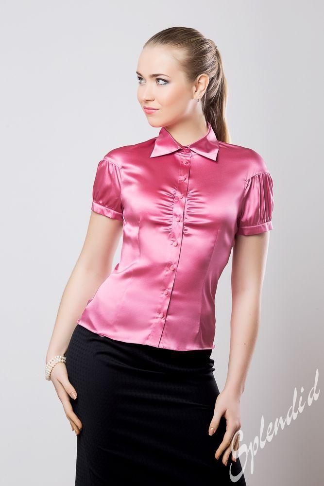 Satin sexy blouse