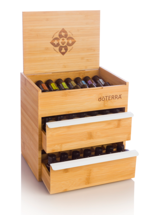 Dōterra Bamboo Box Double Drawer Bamboo Box Essential Oil Storage Box Essential Oil Storage
