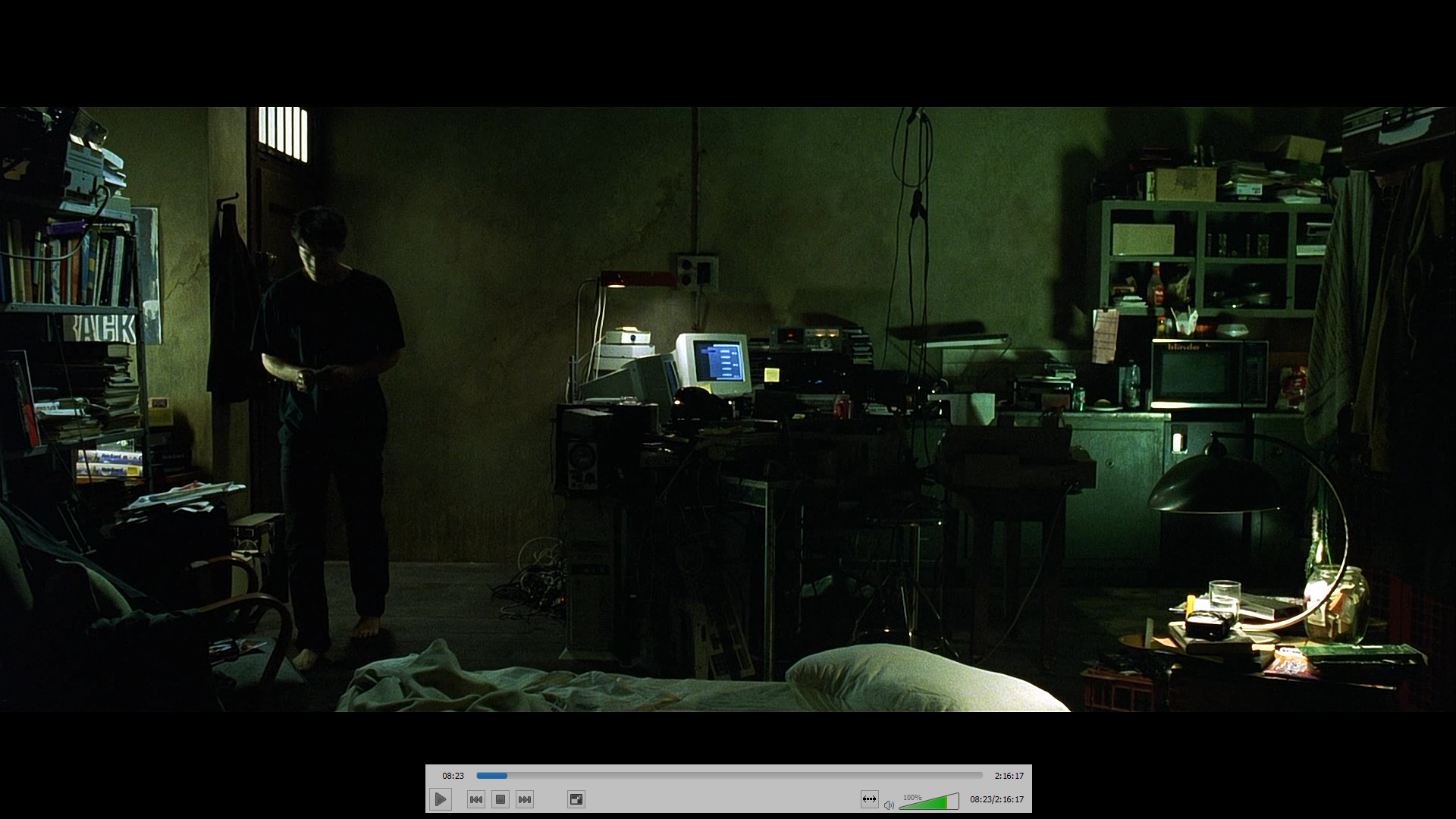 Neo's Apartment from The Matrix Cyberpunk aesthetic