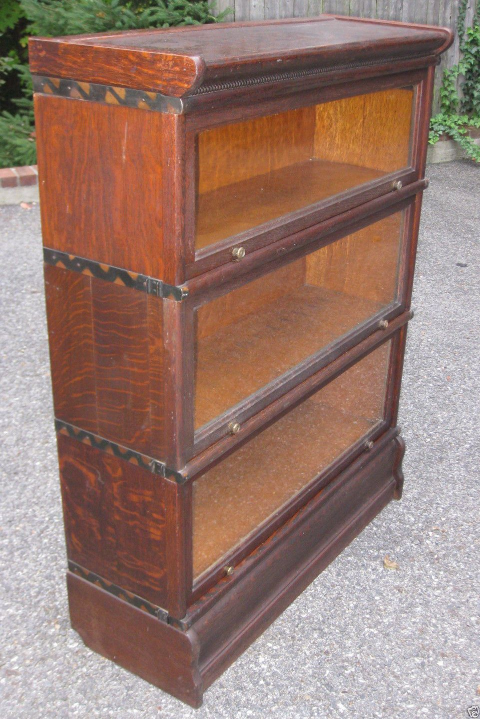 Antique Oak Macey Barrister Bookcase Book Case Stacking