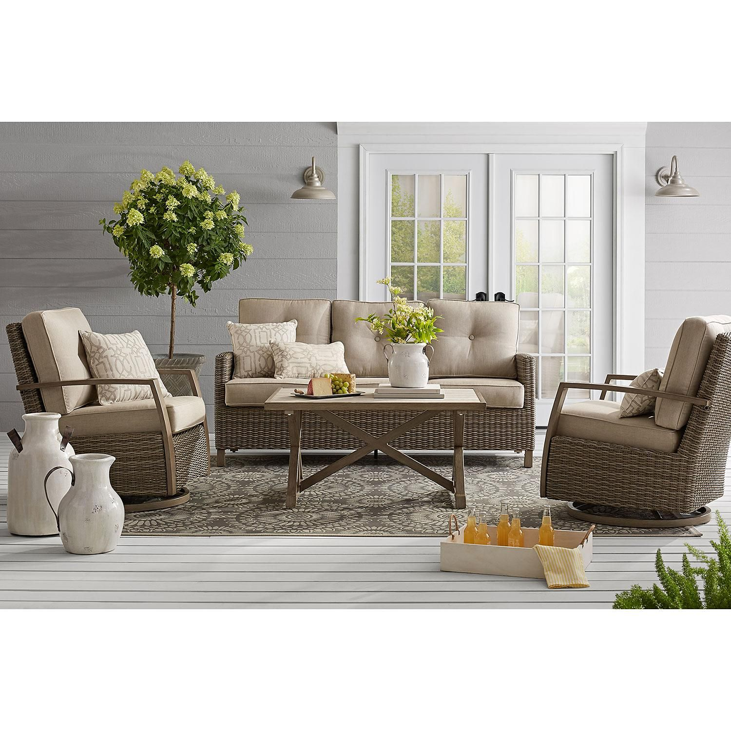 Member S Mark Agio Heartland 7 Piece Dining Set Deep Seating
