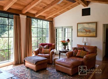 Old California Mission Style Sitting Room Farmhouse Family Santa Barbara Maraya Interior Design