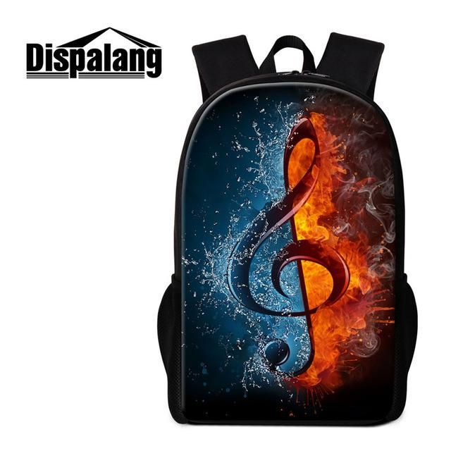 Dispalang Unique Backpack Patterns Musical Notes Art Bookbags ...