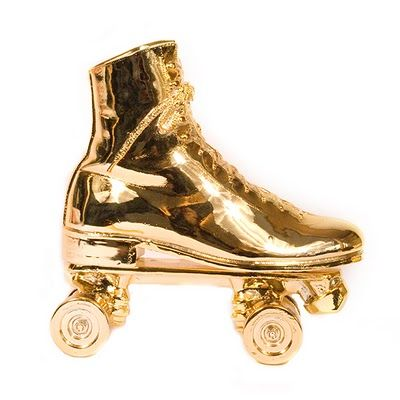 Item Of The Week The Harry Allen Roller Skate Bookend Doorstop Roller Skating Gold Everything Going For Gold