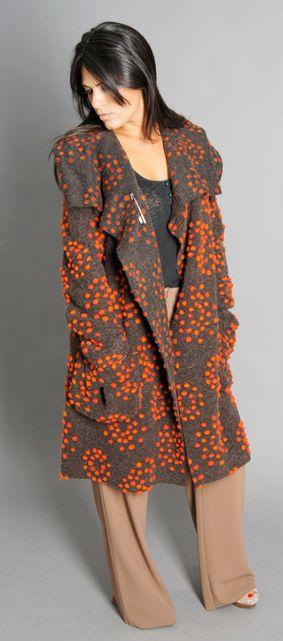 5d8c0f4095 Boiled wool coat by Eva Tralala from Paris
