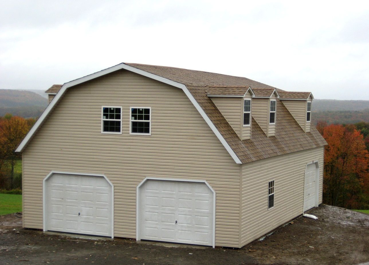 Custom woodtex garage with dormers garages woodtex for Garage with dormers