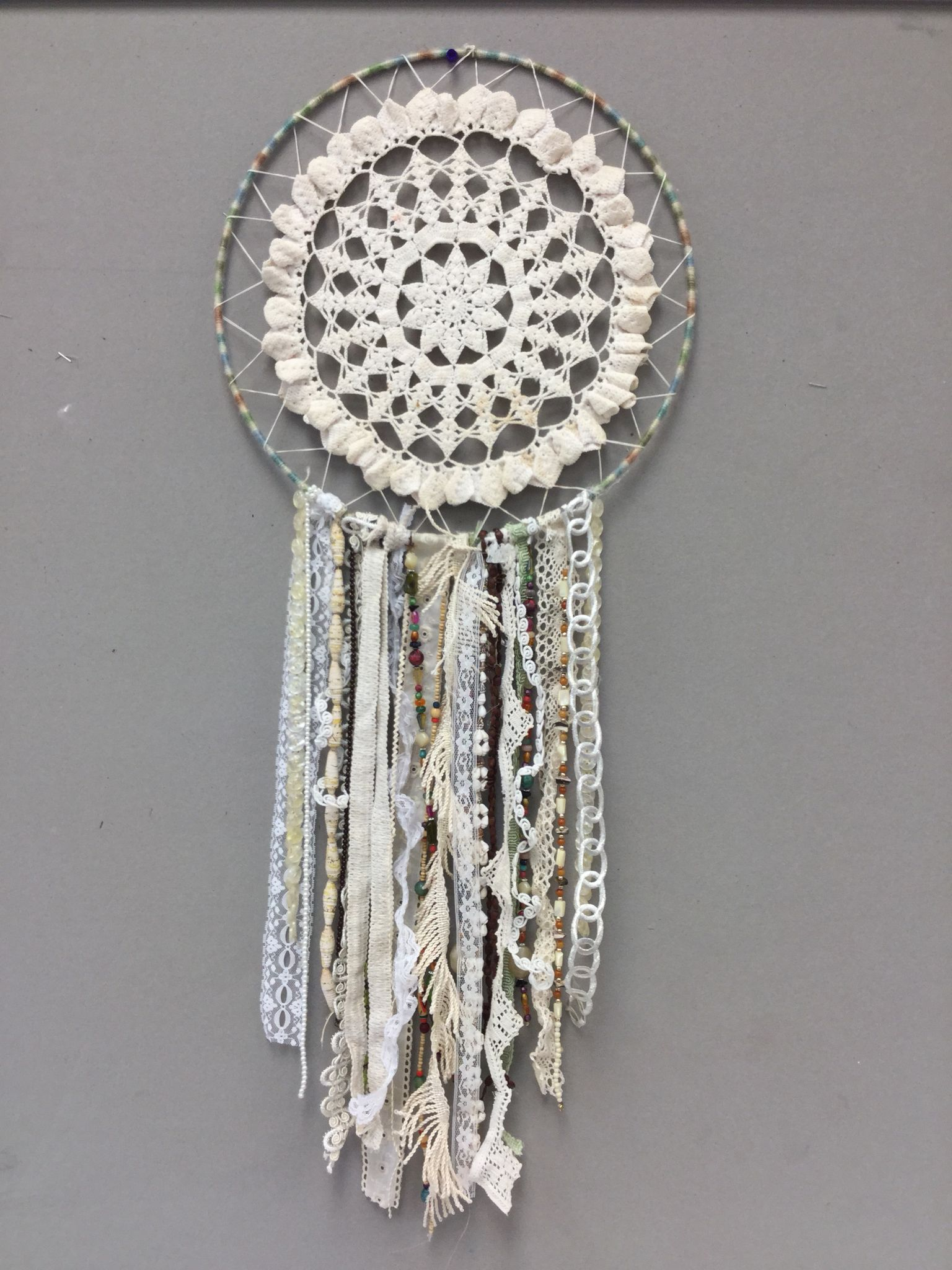 Dream Catcher Made With Vintage Doily