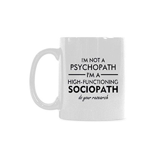 d67900d91da High Functioning Sociopath Mug - $17 - Gifts for Sherlock Fans! http://