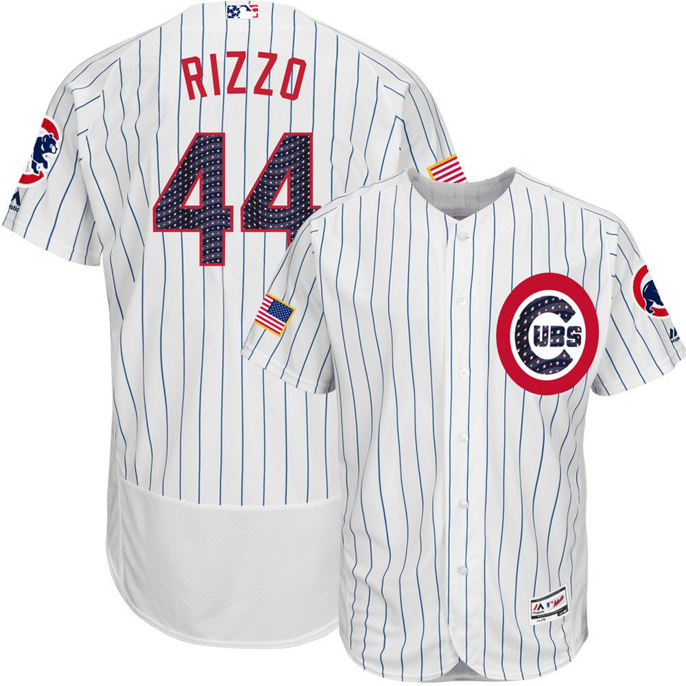 989a8fd1 Anthony Rizzo Chicago Cubs 4th of July Stars & Stripes Flex Base Jersey # ChicagoCubs #Cubs #4thofJuly #FlyTheW #MLB #ThatsCub #AnthonyRizzo