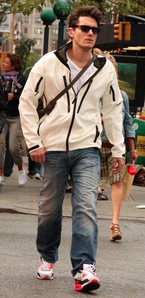 John Mayer wearing Nike Air Max 90