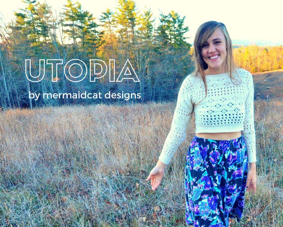 Crochet crop top sweater pattern - Utopia | Crochet Patterns ...