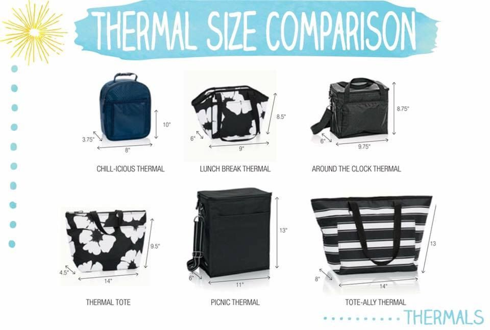 Thermal Comparison Canadianbaglady 31gifts Lunch Bags
