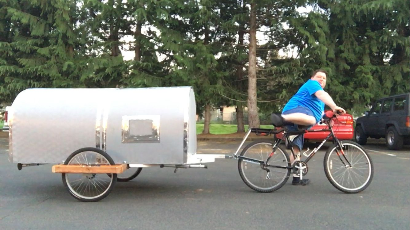 Bike Camper Trailer 140 Best Bicycle Campers Images On Pinterest Bike Trailers
