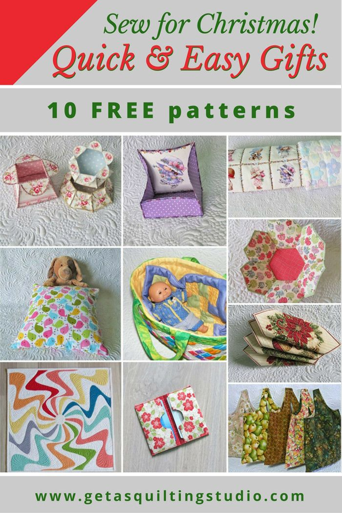 Quick And Easy Gifts To Sew For Christmas Sewing Christmas Gifts Quilted Christmas Gifts Easy Sewing Projects