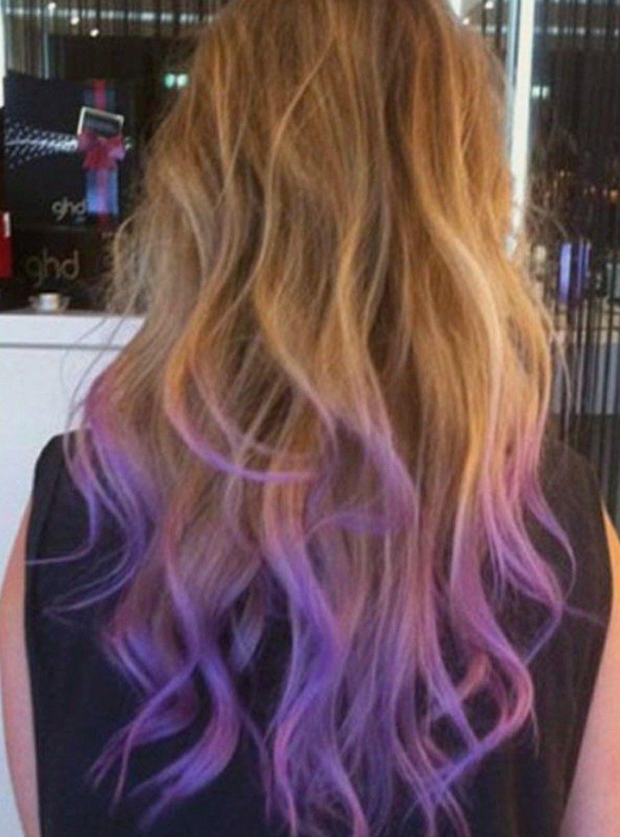 Pin By Lauren On Hair Color Purple Hair Tips Dip Dye Hair Hair