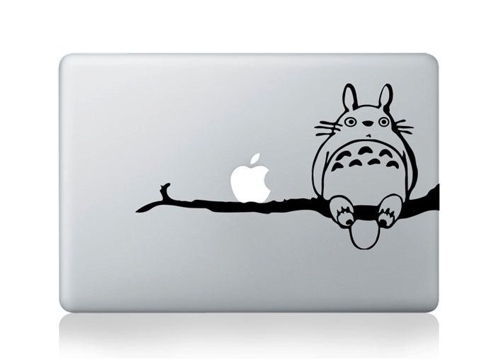 Totoro mac decal macbook stickers macbook decals apple decal macbook pro sticker macbook air