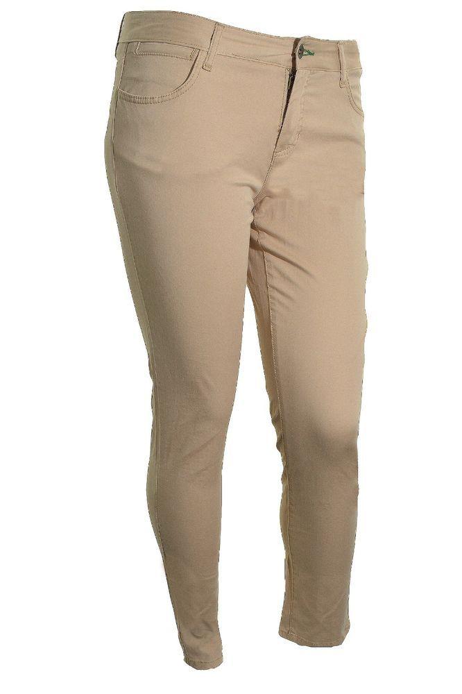 Tommy Hilfiger Womens Freedom Pant Modern Skinny Jean Khaki Chino 12 Beige NEW #TommyHilfiger #KhakisChinos