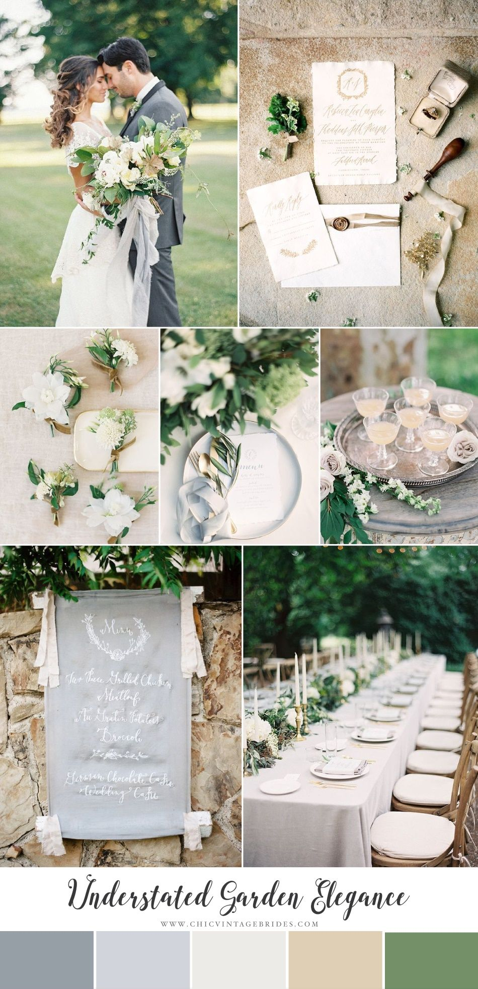 Understated Garden Elegance - Modern Vintage Wedding Inspiration | Outdoor wedding  decorations, Vintage wedding reception, Vintage wedding decorations