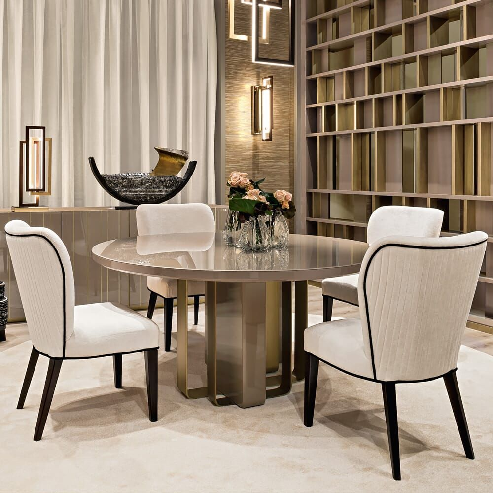 Luxury Italian Designer Dining Table And Chairs Set at Juliettes ...