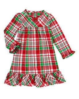 bb56a8c30 Plaid Flannel Pajama Gown
