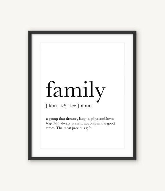 Familie Wandkunst, Familie Definition, lustige Definition Kunst, Familie Druck, Definition Drucke, Affiche Definition, Familie Zitate, Familie Geschenke