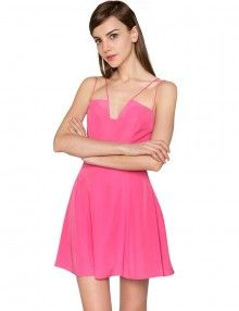 Pink FIt and Flare Dress - Pink Party Dresses -$125