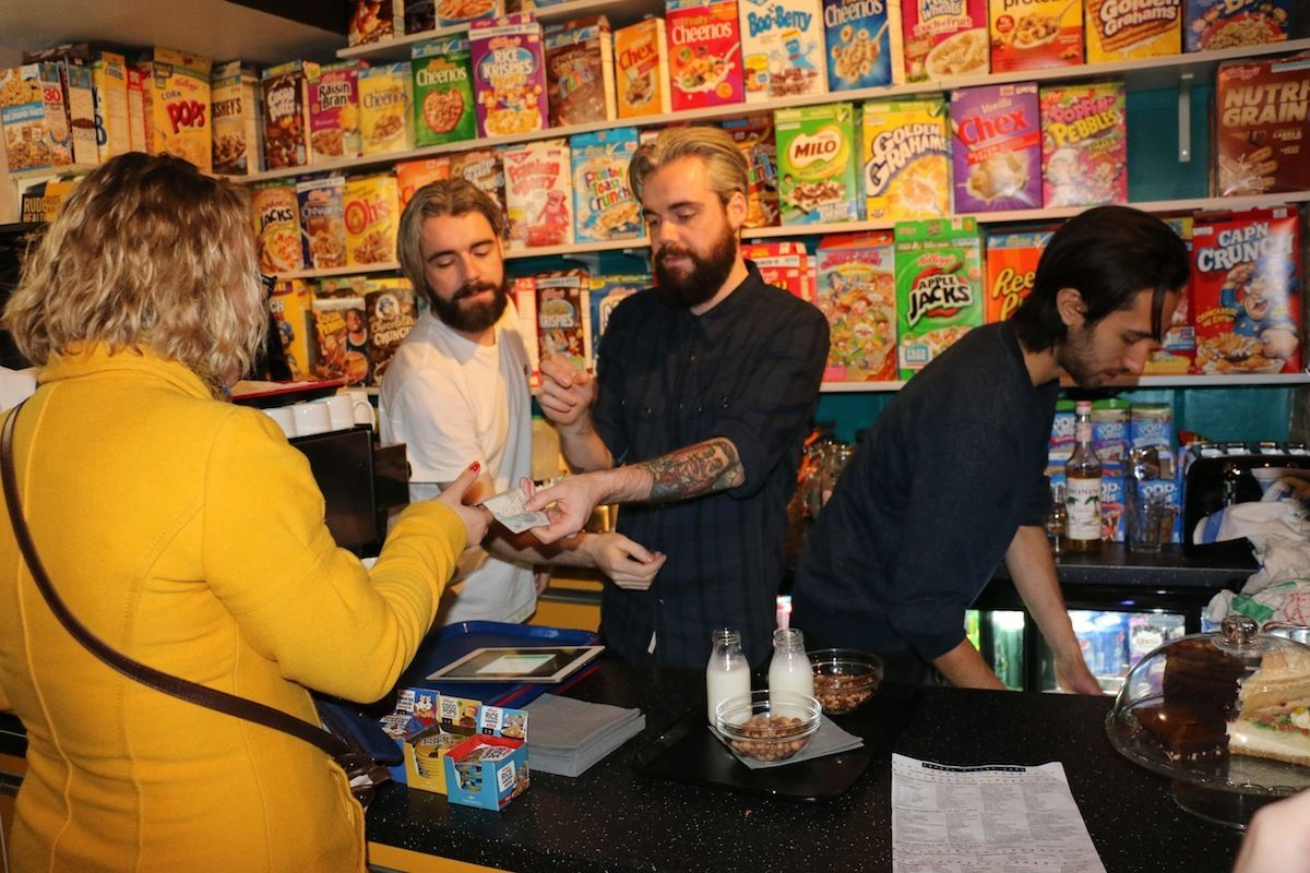Who Is Actually Eating Cereal at London's Cereal Café? | VICE | United States  What kind of people come here? ​ Well, one guy turned up today with goth boots on and his own spoon. Who brings their own spoon to a cafe? He was seriously up for some cereal.