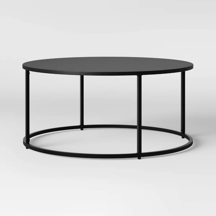 Glasgow Round Metal Coffee Table Black Project 62 Round Black