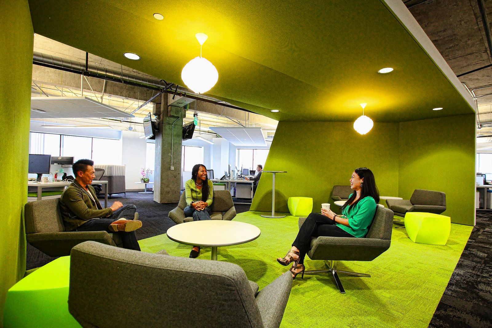 Exceptionnel App Dynamicu0027s Office Green Breakout Area Meeting