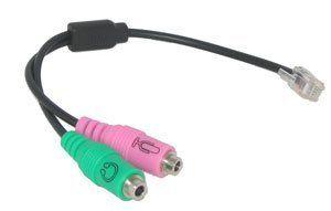Headset Buddy Adapter: PC Headset to RJ9/RJ10 Phone Jack