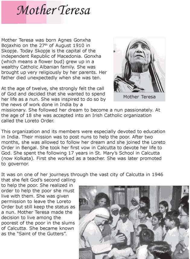 Grade 6 Reading Lesson 11 Biographies - Mother Teresa (1