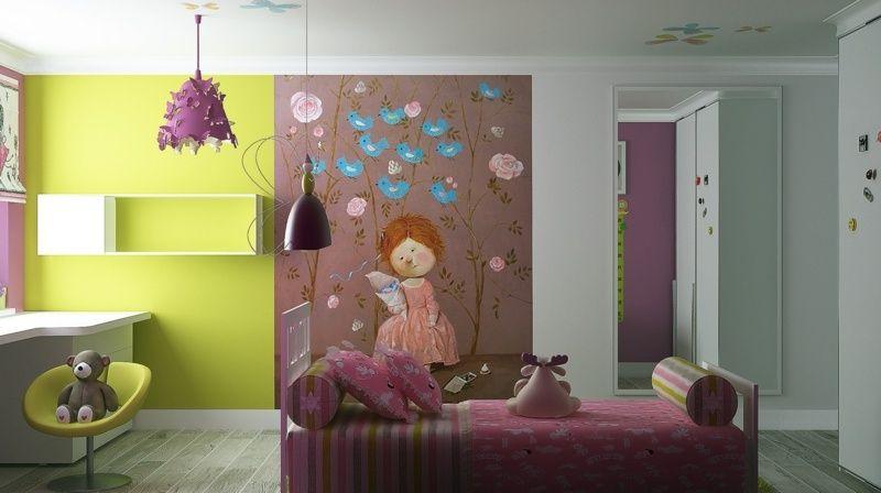Kinderzimmergestaltung  Kinderzimmergestaltung mit Farbe - Grün und Braun mit Bild | rooms ...