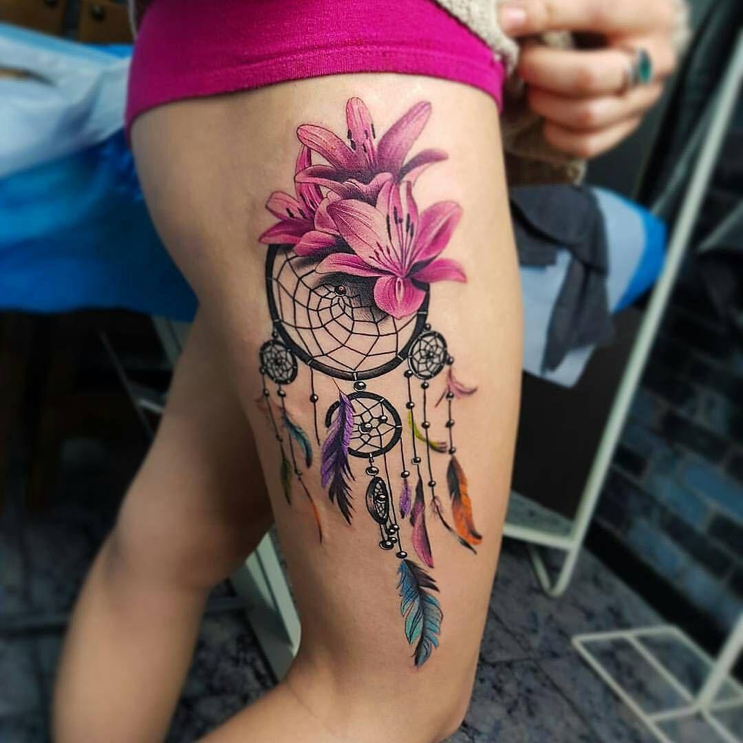 Atrapasueños Y Flores Tattoospiercings Im Loving Tatuajes De