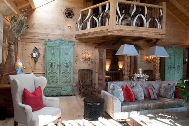 luxury french decor images Chalet in French Style Shows Art - einrichtungsideen mobel chalet stil