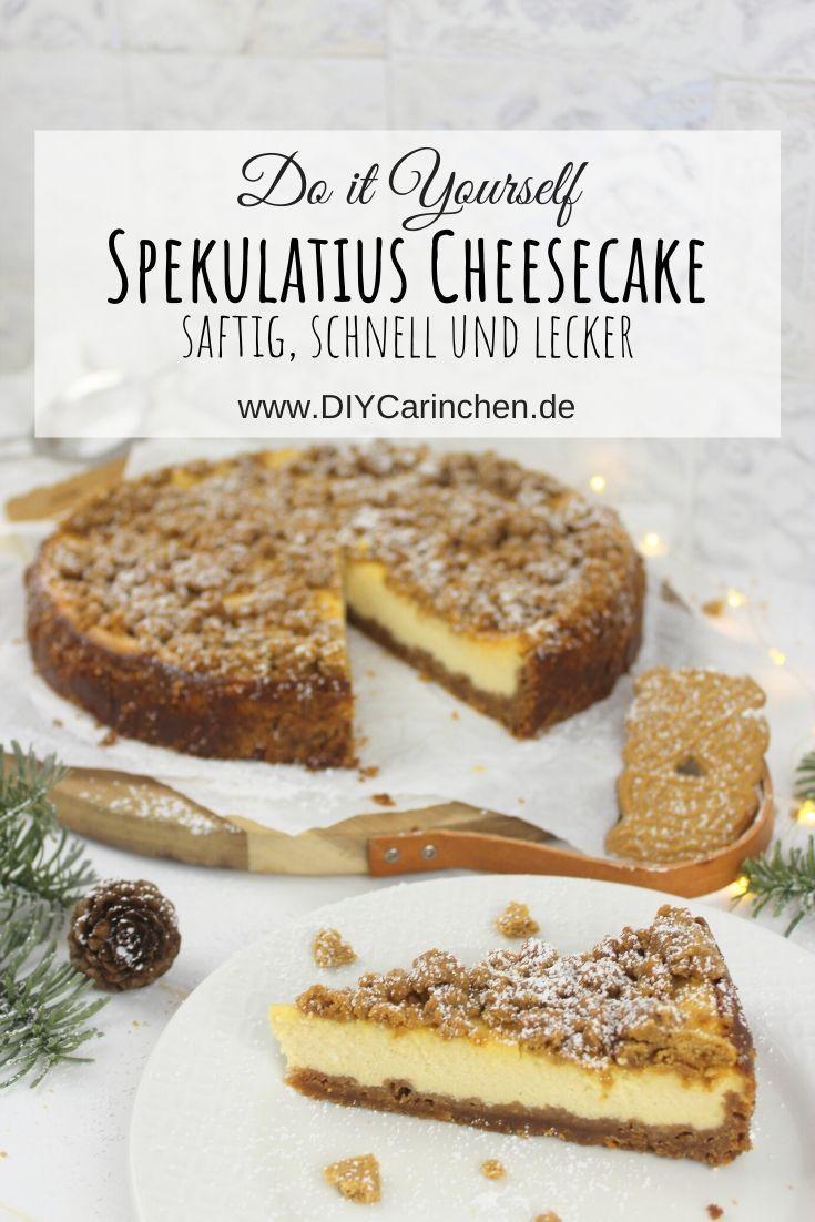 Rezept - saftiger und leckerer Spekulatius Cheescake mit Keksboden