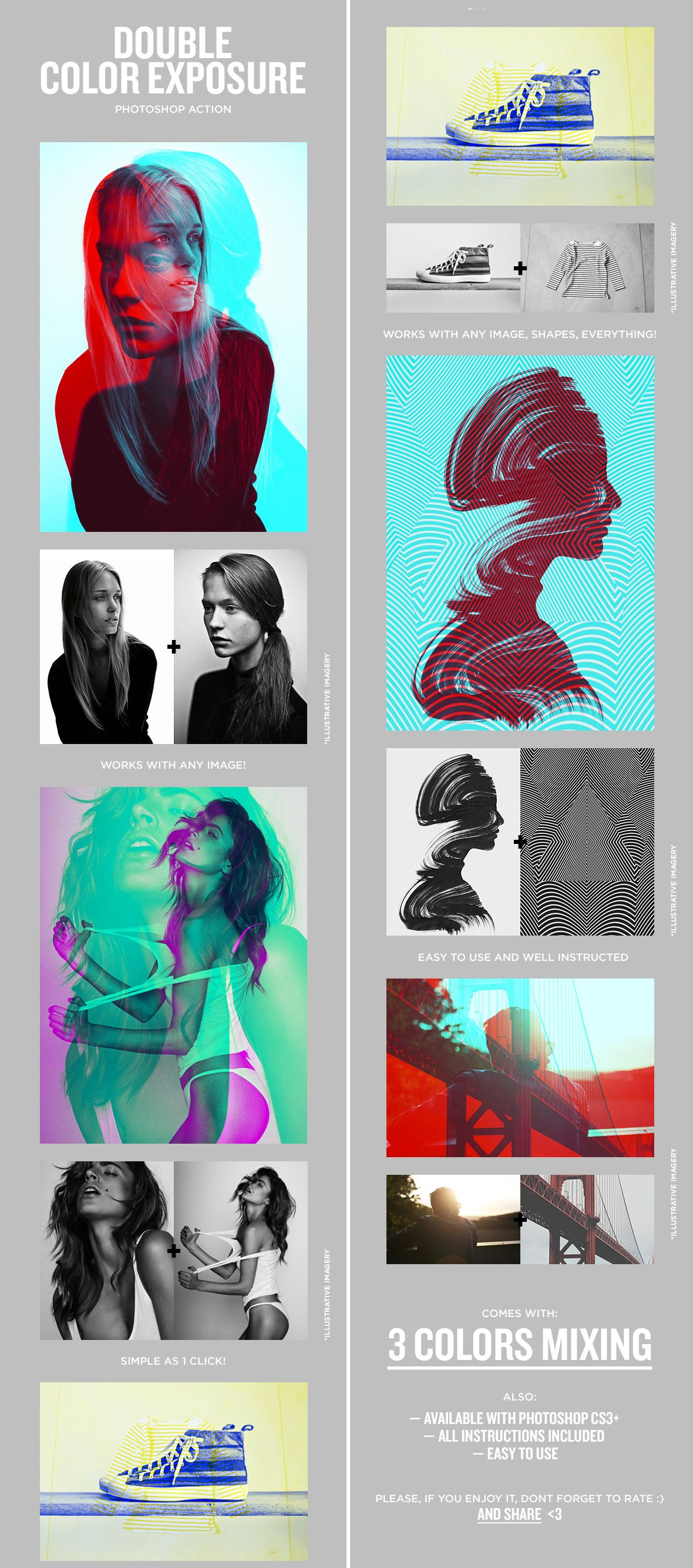 Double Color Exposure  Download here: https://graphicriver.net/item/double-color-exposure/11709694?ref=KlitVogli