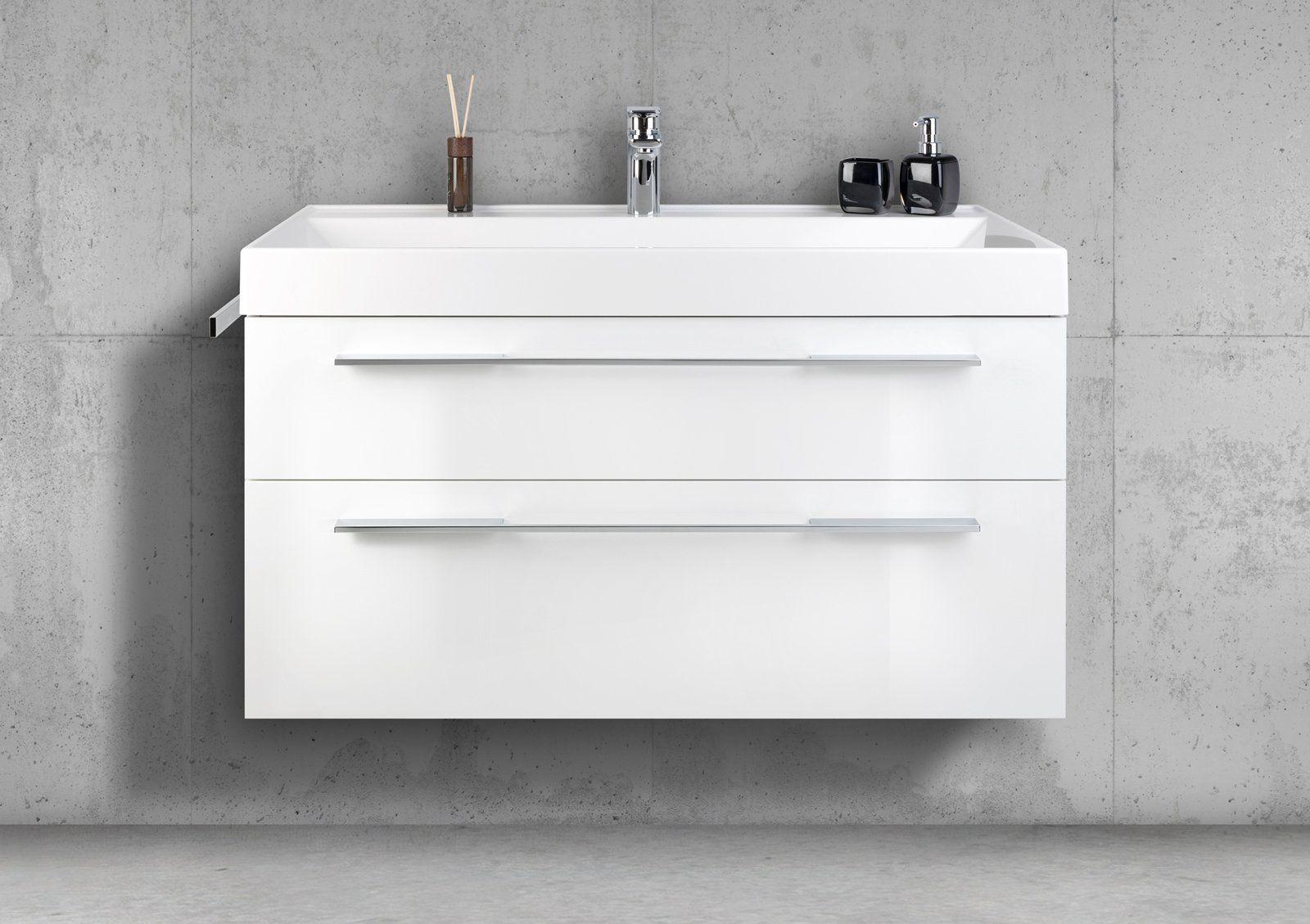 Designbaeder Com Waschtisch Set Unterschrank Waschtisch 100 Cm