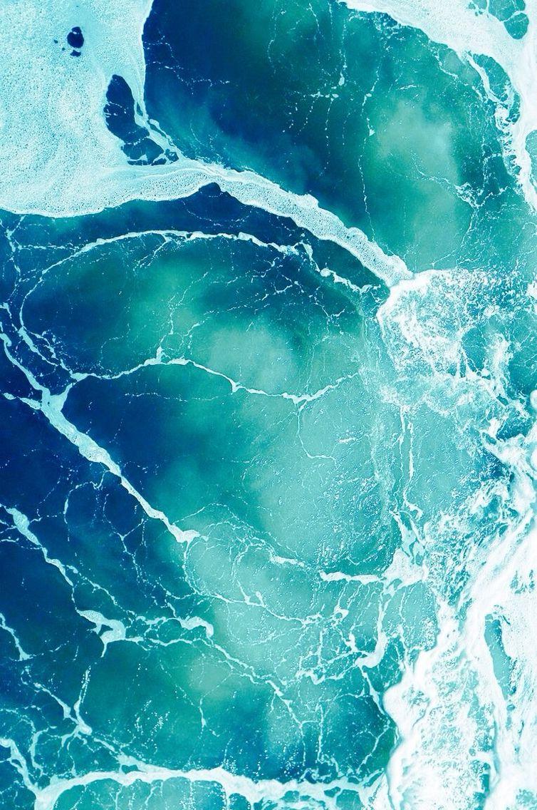 Calm Minty Water Tumblr Grunge Foto Mare Blu Profondo Natura E